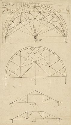 Underdrawing For Building Temporary Arch Drawing