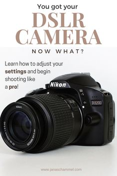 Are you a beginner photographer who just purchased a new DSLR camera? In this post at janaschammel.com, I break down 5 settings tips so that you can master your skills and shoot like a professional. I'll challenge you to step away from automatic mode and move into manual mode. You'll be able to adjust your camera settings like white balance, aperture, ISO, and shutter speed in no time! Learn how to go from beginner to professional today!