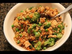 Quick High-Protein Meal:  Chicken & Fried Rice