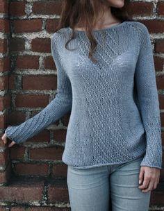 Rain. Textured Sweater Knitting Pattern.