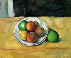 Paul Cézanne - Still Life with a Peach and Two Green Pears, c. 1883-87