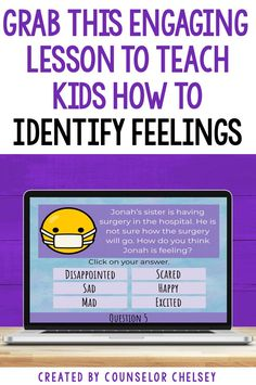Teach your students to identify their feelings and the emotions of others. Elementary students will love this interactive Google Slides game as they look at 30 scenarios to determine how the person is feeling. This game will help kids build their emotional intelligence and learn to respond with empathy. It can be used during distance learning, or in individual, small group or classroom school counseling lessons. Emotions Game, Feelings And Emotions, Feelings Activities, Leadership Activities, Group Activities, Elementary School Counseling, Group Counseling, School Counselor, Understanding Emotions