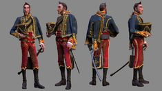 Title: Major Beauchene Name: Jon Stratton Software: Maya ZBrush MARI VRay Submitted: 25th November 2014  This is one of three characters that I am working on for my thesis at school.  The final thesis will be a study in blendshapes where this character and two others will have a conversation.  I a...