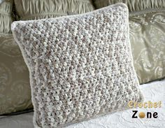 Work it up fast in a soft, plush, bulky yarn & it adds a nice textured dimension. Work one up and cozy up.