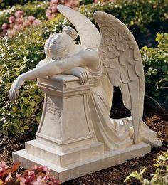 Grieving Angel Memorial Statue Memorial Statue, Memorial Statues, Angel Statue .:. Catholic Faith Store