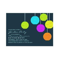 Paper Lanterns Garden Party Invitations by reflections06