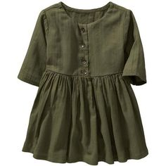 3/4-Sleeve Crepe Dresses for Baby Product Image | Jade's Wishlist |... ❤ liked on Polyvore featuring kids