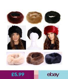 55127fb60ba9 Hats Fur Headband Ear Warmers Ladies Womens Girls Winter Ski Furry Hair  Band Hat Uk