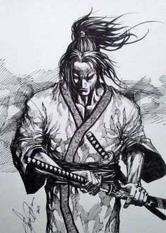 A ronin was a samurai with no lord or master during the feudal period of Japan. A samurai became master-less from the death or fall of his master, or. Samurai Drawing, Samurai Artwork, Warrior Drawing, Samurai Warrior Tattoo, Warrior Tattoos, Japanese Warrior Tattoo, Demon Tattoo, Ronin Tattoo, Ronin Samurai