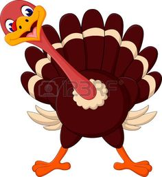 turkey scared cartoon turkey vector clip art illustration with rh pinterest com
