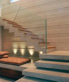 How to choose and buy a new and modern staircase – Modern Home Home Stairs Design, Interior Stairs, Home Interior Design, House Design, Stairs Architecture, Interior Architecture, Escalier Design, Stair Walls, Floating Staircase