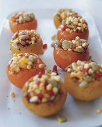 Heirloom Tomatoes Stuffed with Summer Succotash // More Tomato Recipes: http://fandw.me/9ek