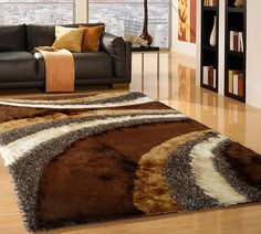 Brown Area Rug Plush Pile For Soft Comfort And Stunning Beauty That Will Stand Out