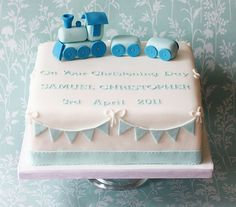 Train and Bunting Cake