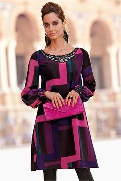 Together Print Tunic Dress Cheap Dresses, Women's Dresses, Dresses Online, Warm Autumn, Buy Dress, Fashion Online, Women Wear, Clothes For Women, Buy Cheap