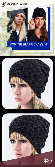 NWT Beautiful Lurex Knit Beanies! ☃ NWT BEAUTIFUL LUREX KNIT BEANIES! ❤️☃❤️  • Available in WINE & BLACK 😀  • 100% ACRYLIC   • LOVE THE SHIMMER IN THESE GORGEOUS HATS  • BEANIES IN PHOTO **2 & 3** ARE AVAILABLE FOR PURCHASE.  ~JOIN THE BEANIE CRAZE!~ ~ STAY WARM & LOOK FABULOUS!~ Accessories Hats