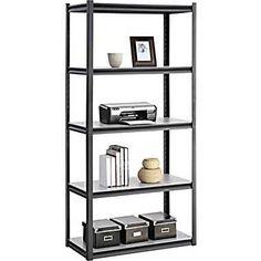 Whalen Heavy Duty 5-Shelf Storage Rack at STAPLES -- holds 800 pounds.  sc 1 st  Pinterest & Whalen Storage shelving units | Storage | Pinterest | Storage ...