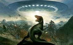 nice dinosaurs vs aliens 19273 Check more at http://www.finewallpapers.eu/pin/22876/