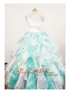 Gorgeous A-Line Beaded Decorate Shoulder Multi-color Organza Beading Little Girl Pageant Dresses- $152.69  www.fashionos.com    zipper up back little girl dress   first communion dress   discount pageant dresses for little girls   gliz child pageant dresses   sensational little girl dress   2013 beauty pageants dresses   little girl dress with floor length   how to plan a pageant party  