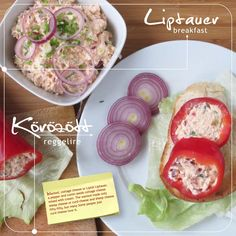 Körözött / Liptauer for breakfast by Ivan Szamos - issuu Sheep Cheese, Hungarian Recipes, English Food, Cottage Cheese, Real Food Recipes, Stuffed Peppers, Cooking, Breakfast, Ethnic Recipes