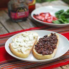 Red Pepper & Goat Cheese Panini - Pinch of Yum