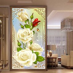 DIY 5D Diamond Painting Rose Flower Embroidery Cross Stitch Craft Home Decor