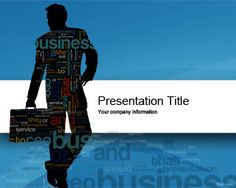 business cloud powerpoint template is a free business blue template slide design for presentations that you