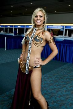Sexy blonde Slave Leia #cosplay