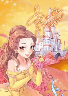 Tenyo Disney Princess Belle Beauty and the Beast Tenyo Disney Japan Jigsaw Puzzle Origin : Japan (Made in Japan) Piece : 266 pcs (small pieces) Finished Size : x cm Remarks : Transparent Stained Art and Gyutto Size Mini Puzzle Batch Ref : Disney Pixar, Disney Cartoons, Anime Disney Princess, Heros Disney, Disney Princess Drawings, Arte Disney, Disney Fan Art, Disney Drawings, Disney Animation