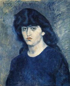 Retrato de Suzanne Bloch - Pablo Picasso - 1904