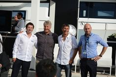 Special Guests at the Sunreef Yachts Press Conference- Steven Rvussin, Laurent Bourgnon, Yvan Ravussin and  Robert Blazejak from Sunreef Yachts