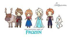 Chibi Disney Frozen   Chibi Frozen