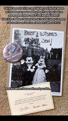 Totally inviting Micky and Minnie to my wedding Invitations, Disney, Cover, Wedding, Mariage, Disney Cast, Slipcovers, Save The Date Invitations, Marriage