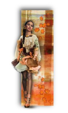 """Her Name is Autumn.... and She Dances with the Leaves."" by auntiehelen ❤ liked on Polyvore featuring art"
