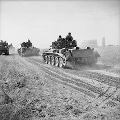 Cromwell tanks of Northamptonshire Yeomanry advance near Escoville during Operation 'Goodwood', 18 July Normandy Ww2, D Day Normandy, Normandy France, Cromwell Tank, British Army, British Tanks, History Online, War Image, Military Pictures