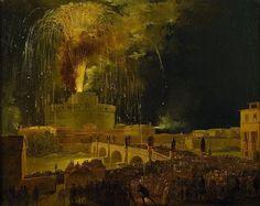 Ippolito Caffi, La girandola di Castel Sant'Angelo