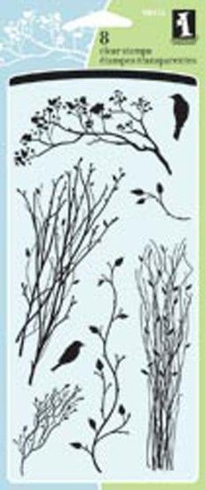"""Inkadinkado Clear Stamps 4""""X8"""" Sheet-Delicate Branches"""
