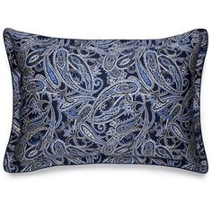 Ralph Lauren Home Costa Azzura Paisley Blue Pillowcase - Blue Bedroom Walls, Ralph Lauren, Streetwear Brands, Duvet Covers, Paisley, Luxury Fashion, Color, Women, Germany