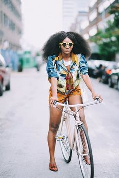 fashion, street style, afro hair, black girl, natural hair, colorful, summer outfit, black womens inspiration