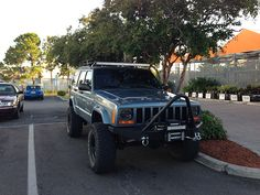 Jeep cherokee off road custom google search xj pinterest from those out there that have put led light bars on their roof where and how are you routing the wiring harness so that wires arent sticking out all over aloadofball Image collections