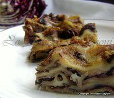 Lasagne al radicchio e taleggio, ricetta