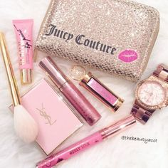 Makeup • Juicy Couture • glitter • brushes • watch ♡ Laura ♡ - Luxury Beauty - amzn.to/2hZFa13