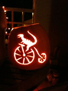 velociraptor on a velocipede bike...