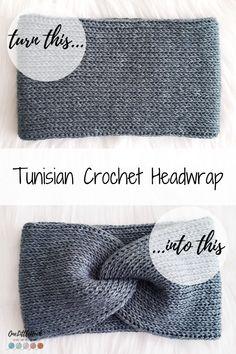 Nov 2019 - Make a Simple Tunisian Crochet Ear Warmer with this FREE Pattern. Create a Tunisian twist headwrap with this pattern link! Tunisian Crochet Blanket, Tunisian Crochet Patterns, Knitting Patterns, Simple Crochet Patterns, Crochet Twist, Easy Crochet, Knit Crochet, Doilies Crochet, Crochet Shawl