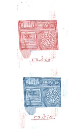 http://lostcontrolcollective.tumblr.com illustration radio radio more off-cuts from the corduroy trousers of Duglas T. Stewart