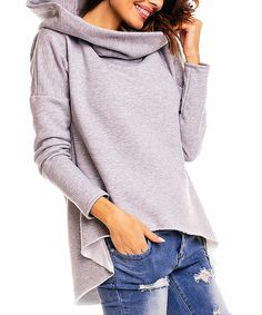 Another great find on #zulily! Gray Hi-Low Hoodie #zulilyfinds