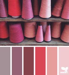 spooled hues - voor meer #kleur #inspiratie kijk ook eens op http://www.wonenonline.nl/interieur-inrichten/kleuren-trends/