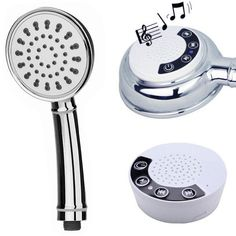 Waterproof Music Handheld Shower ABS Chrome Assemble Bluetooth Speaker Shower Head Answer Phone Call