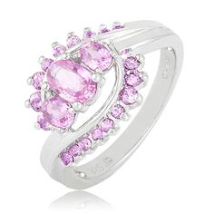 $64.99 - 1 Carat Pink Sapphire Gemstone Ring in Sterling Silver