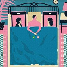 An awesome Virtual Reality pic! In bed with Tinder- imagine how this would work with VR?  #tinder #advertising #techlove #socialdating #adspiring #inspiration #ad #artdirection #illustration #dating #vr #virtualreality #thenewblack #pretty #design #graphicdesign #graphic #illustrator #creative by adspiring check us out: http://bit.ly/1KyLetq
